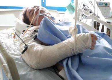 Potrącone przez motocykl w szpitalu zaraz po wypadku