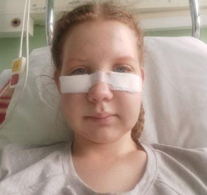 Iwona w szpitalu po wypadku drogowym